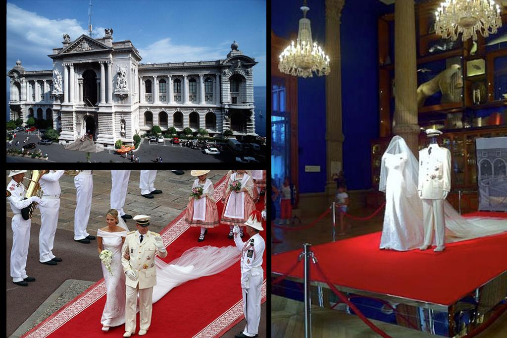 Installazioni: Mostra al museo oecanografico matrimonio di Alberto di Monaco e Charlene